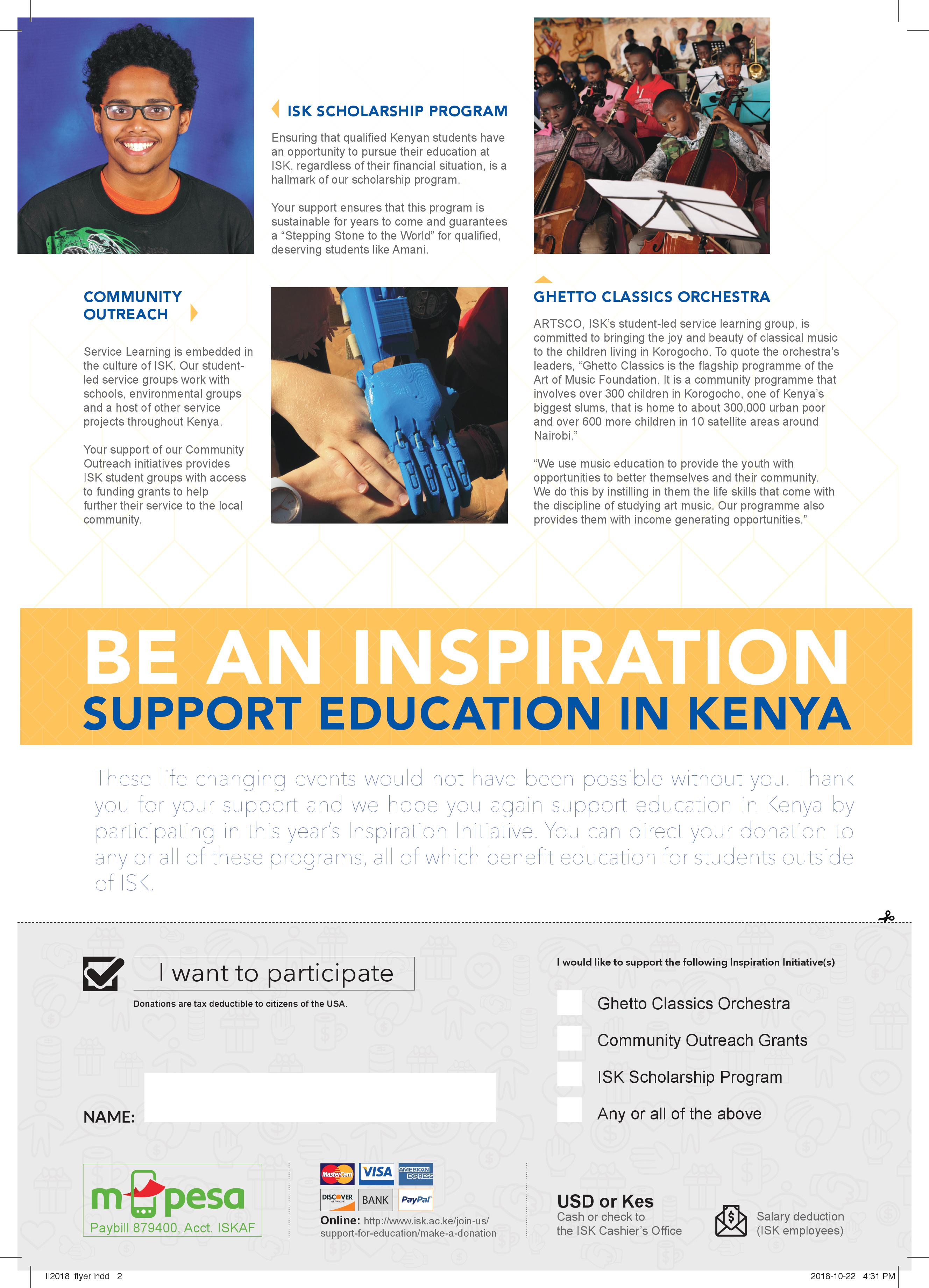 Support for Education - International School of Kenya
